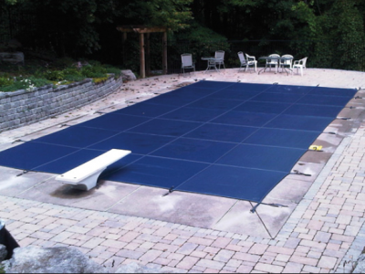 pool cover blue